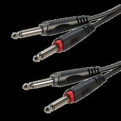 2 x moulded 6.3mm mono Jack plug - 2 x moulded 6.3mm mono Jack plug RACC100L1.5