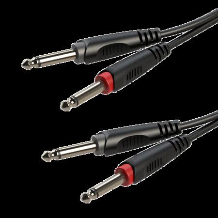 2 x moulded 6.3mm mono Jack plug - 2 x moulded 6.3mm mono Jack plug RACC100L6