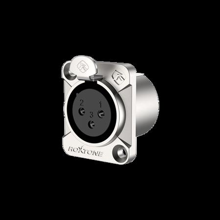 RX3FD-NS 3 pole XLR female socket, Nickel plated shell
