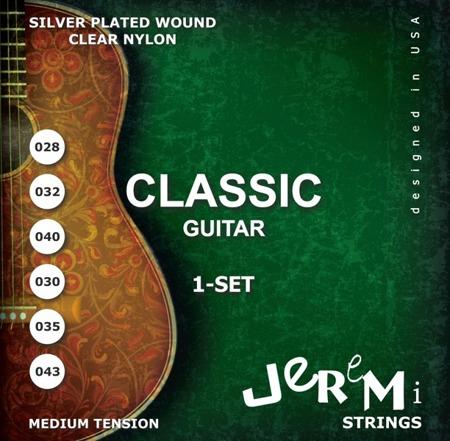 Struny do gitary klasycznej JEREMI CG2843